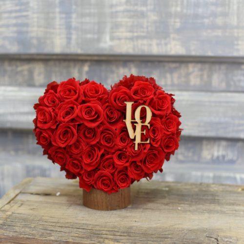 Ramo Rosas Rojas Naturales Preservadas